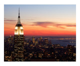 New York Sunset - Aerial View Photographic Print by  Dw Labs