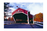 Covered Bridge Over The Ellis River Jackson NH Photographic Print by George Oze