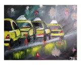 Rainy Park Avenue II Giclee Print by Janel Bragg