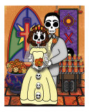 El Casamiento - The Day of the Dead Wedding Photographic Print by Ladislao Loera