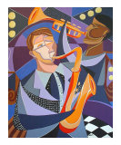 All that Jazz Giclee Print by Kristen Stein