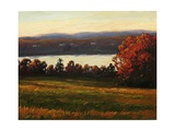 Late Autumn Day on the Hudson Giclee Print by Patty Baker