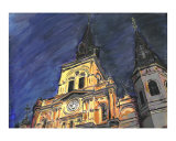 New Orleans Cathedral at Night Giclee Print by Jerry Schwehm