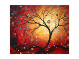 Red Halo Giclee Print by Megan Aroon Duncanson