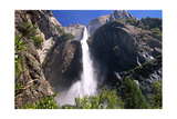 Low Angle View of the Yosemite Falls California Photographic Print by George Oze