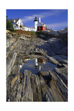 Lighthouse Reflection Pemaquid Point Maine Photographic Print by George Oze