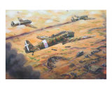 Breda 65s attack 1940 Giclee Print by jack connelly