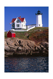 Close View of the Cape Neddick Lighthouse Photographic Print by George Oze