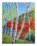 Among The Birches Giclee Print by Takeyce Walter