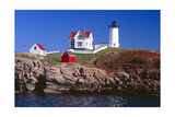 Nubble Lighthouse York Maine Photographic Print by George Oze