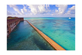 Walls Of Fort Jefferson Dry Tortugas Florida Photographic Print by George Oze