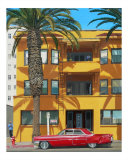 Red Caddy Apartments Giclee Print by Michael Ward