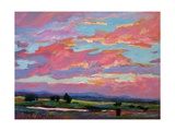 Pink Clouds Over the Foothills Giclee Print by Patty Baker