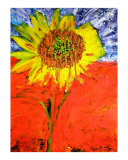 Melting Sunflower Giclee Print by Ron DeMore