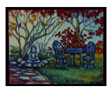 Autumn Garden Giclee Print by Mary Connors