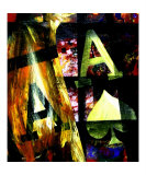 Abstract 3D Poker Aces Giclee Print by Teo Alfonso