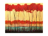 Tall Red Trees Giclee Print by Patty Baker