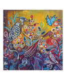 Enchanted Garden : Birds of a Feather Giclee Print by Kristen Stein