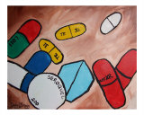 Portrait Of My Pills Giclee Print by Janel Bragg