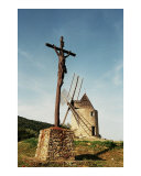 Christ And The Windmill Photographic Print by Andrew Fare