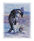 Penguin Love Giclee Print by Nadine Rippelmeyer