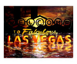Abstract Las Vegas Sign Giclee Print by Teo Alfonso