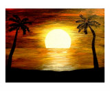 Tropical Sunset Giclee Print by Teo Alfonso