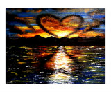 Lovers Sunset Landscape Giclee Print by Teo Alfonso