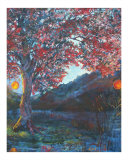 Big Red Tree Giclee Print by Reesa Jacobs