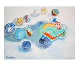 Marbles Giclee Print by Shelley Overton