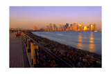 Manhattan Skyline at Sunset Photographic Print by George Oze