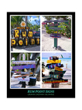 Fun Signs of Rum Point Grand Cayman Photographic Print by George Oze