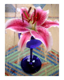 Lily On A Painted Table Photographic Print by Lucyna A M Green