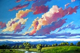 Late Day Clouds over the Divide Giclee Print by Patty Baker