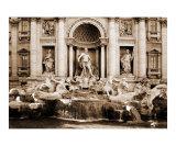 The Trevi Fountain, Rome, Italy Reproduction photographique par vincent abbey