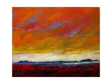 Pink Clouds over the Plains Giclee Print by Patty Baker