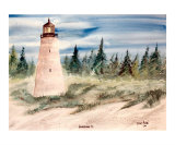 Georgetown South Carolina Lighthouse Art Giclee Print by Derek Mccrea