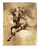 Heste i barokstil, serie III: III Giclée-tryk af Heather Theurer