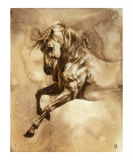 Baroque Horse Series III: III Gicl&#233;e-Druck von Heather Theurer