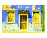 Blue House Decay Photographic Print by Donna Corless