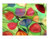 Flowers Floating Giclee Print by Rebecca Felland-syring