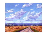 Hay Bales In Boulder County Giclee Print by Patty Baker