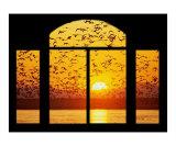 Sunset Window Giclée-Druck von John Van Den Munckhof