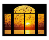 Sunset Window Giclee Print by John Van Den Munckhof