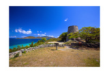 Windmill Ruins Saint John US Virgin Islands Photographic Print by George Oze