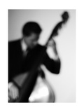 Bassist 2 BW Photographic Print by John Gusky