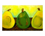 Three Pears Giclee Print by Anna Roselli