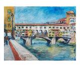 Ponte Vecchio Giclee Print by Joan de Bot