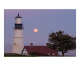 Moonrise Portland Head Light Photographic Print by Steven Langerman