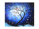 Blue Cascade Poster by Megan Aroon Duncanson